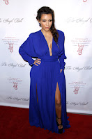 Kim Kardashian  at Angel Ball   red carpet 2012