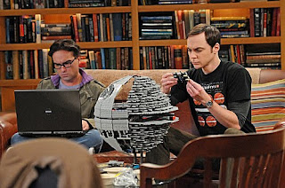 Sheldon constructing Lego Death Star