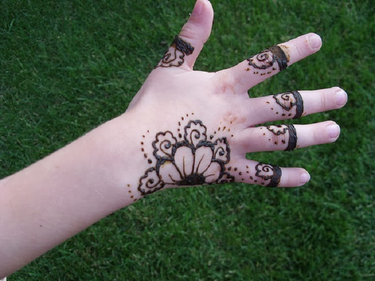 Hair Style  Easy Mehndi Design For Kids Hands Pictures