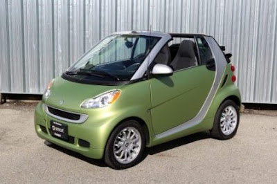 2011 Smart ForTwo Passion Cabriolet green color