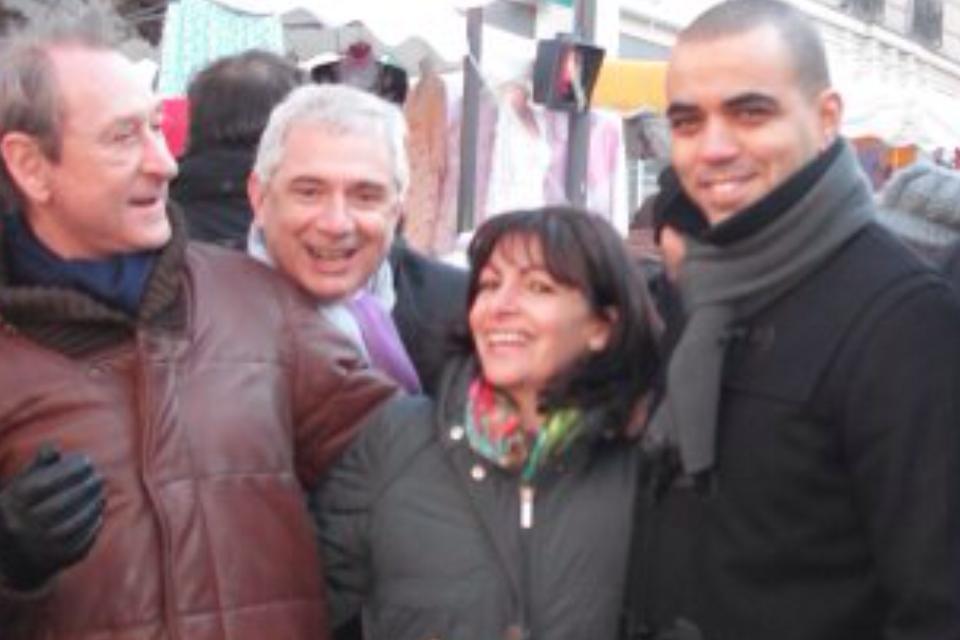 Avec Madame la Maire de Paris