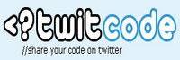 Twitcode for sharing code snippets on Twitter