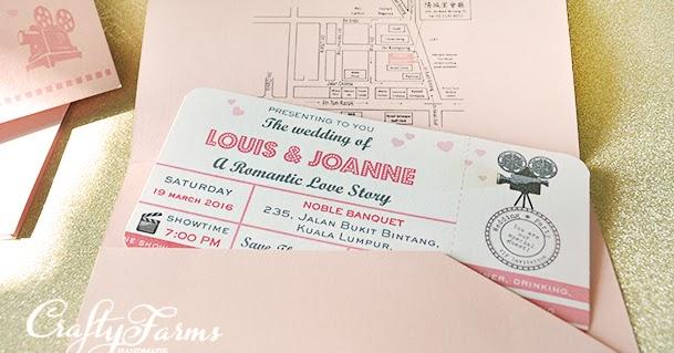 Wedding Card Malaysia Crafty Farms Handmade : Pink Retro Movie ...