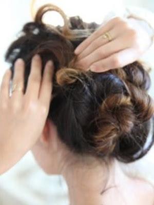 Peinados recogidos ondas paso a paso