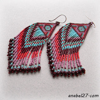 купить украшения из бисера о тanabelseed bead earrings