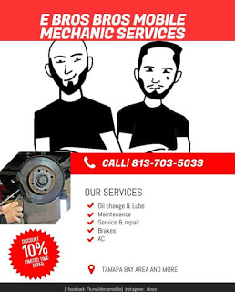 E Bros Mobile Mechanic  - Tampa, USA (813) 703-5039