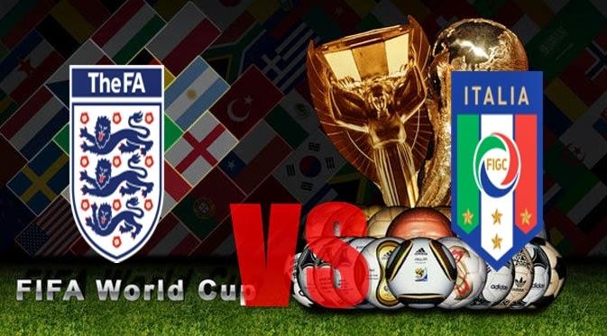 Prediksi Skor PIALA DUNIA 2014 Terjitu Inggris vs Italia  jadwal 15 Juni 2014