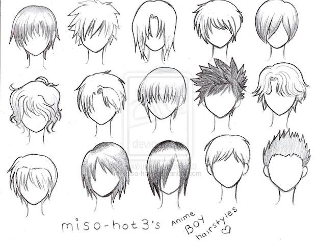 cabelos mang anime art