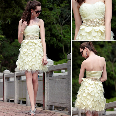 Daffodil Sweetheart Short/Mini Dress