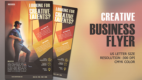 Design Creative Business Flyer CMYK Photoshop Tutorial