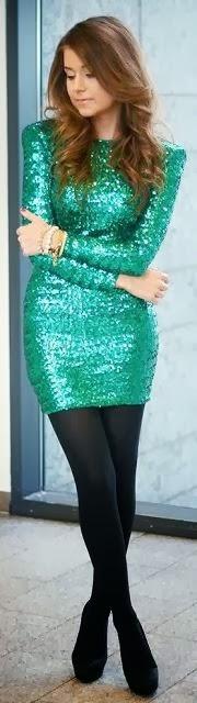 Adorable Leggings and Shining Green Shirt