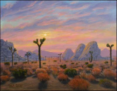 sunset,sundown,sun,Joshua Tree,National Park,CA,California,clouds,pink,orange,yellow,Mojave,desert,rock,formation,monzogranite