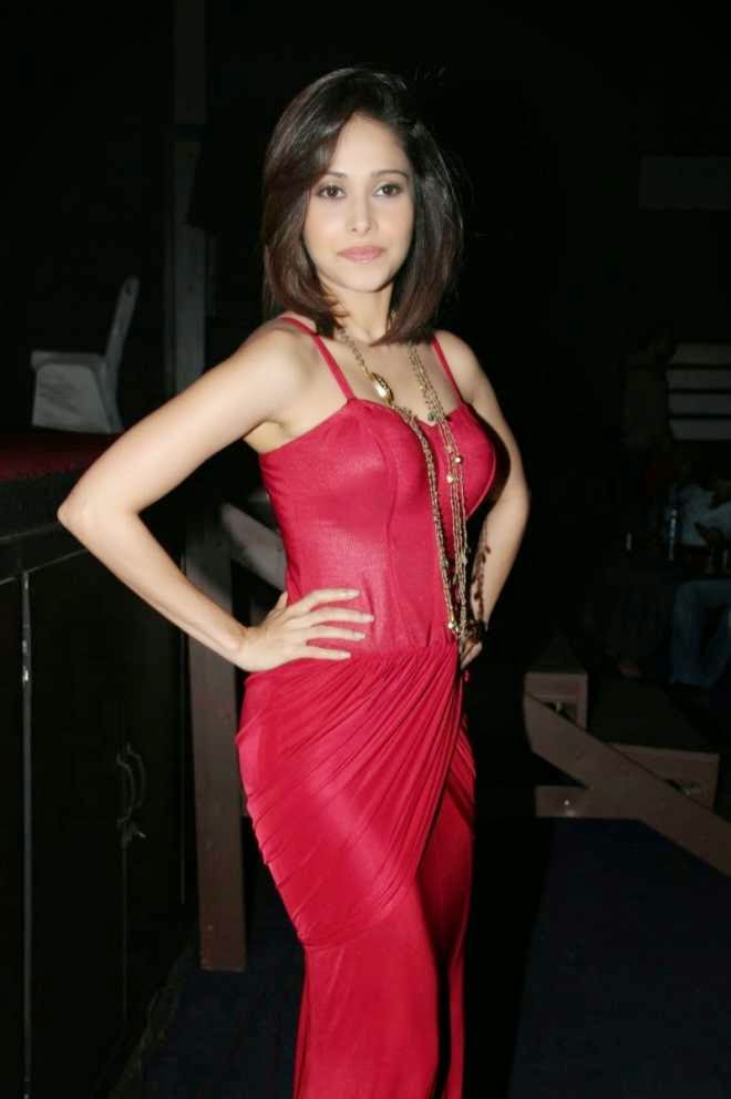 nushrat bharucha looking hot in red dress pics