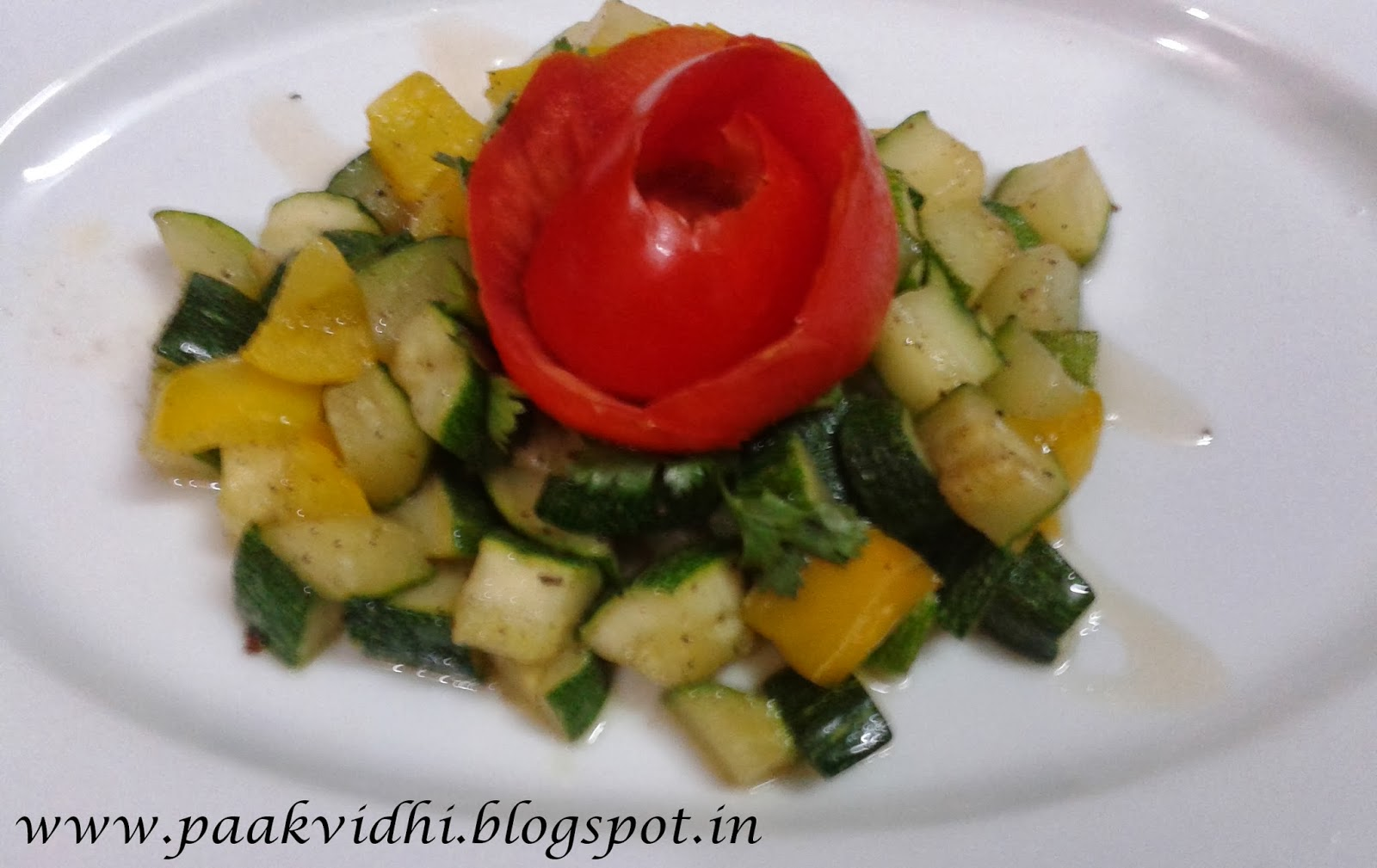 http://paakvidhi.blogspot.in/2014/01/zucchini-bell-pepper-salad.html
