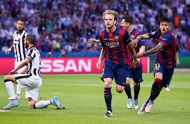 Ivan Rakitic, futbolista croata del Barcelona marcando el primero gol de la Final Berlin 2015 de la UEFA Champions League ante la Juventus | Ximinia