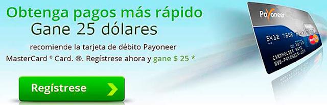 Tarjeta de débito Payoneer Mastercard