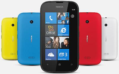 Nokia Lumia 510 - Colores disponibles: amarillo, azul, negro, rojo y blanco