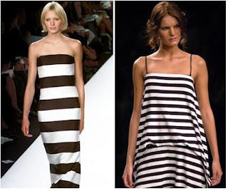 modelos de vestidos listrados