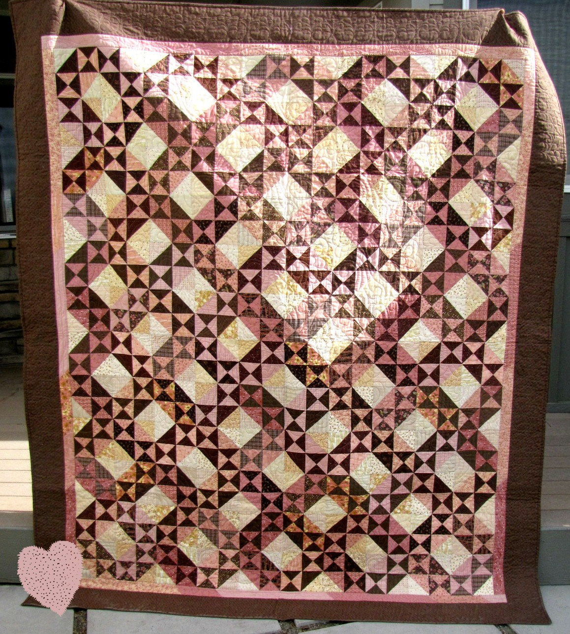 Strawberries And Chocolate Quilt Pattern