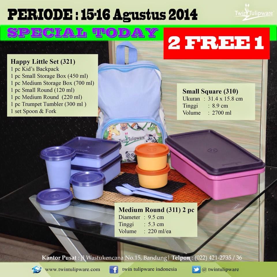 Promo Tulipware 15 dan 16 Agustus 2014
