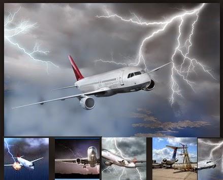 sambaran petir pada pesawat,  apakah pesawat bisa disambar petir,