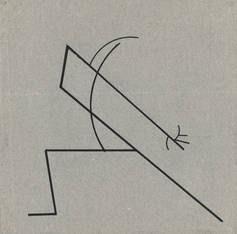 regte Kandinsky zu einer Tanzkurven-Zeichnung an