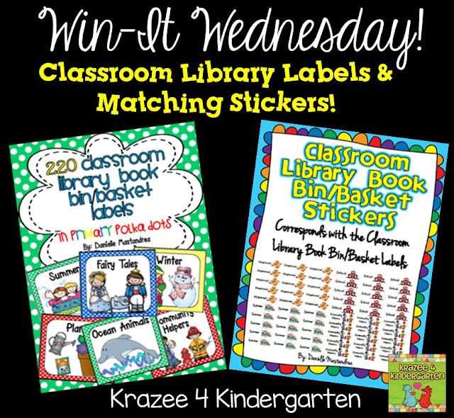 http://www.iteachkinder.com/2015/06/win-it-wednesday-library-labels-and.html