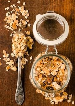 Receta de granola bajas calorias