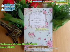 Undangan Vintage Rose Prancis