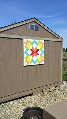 Quilt Block Shed Art