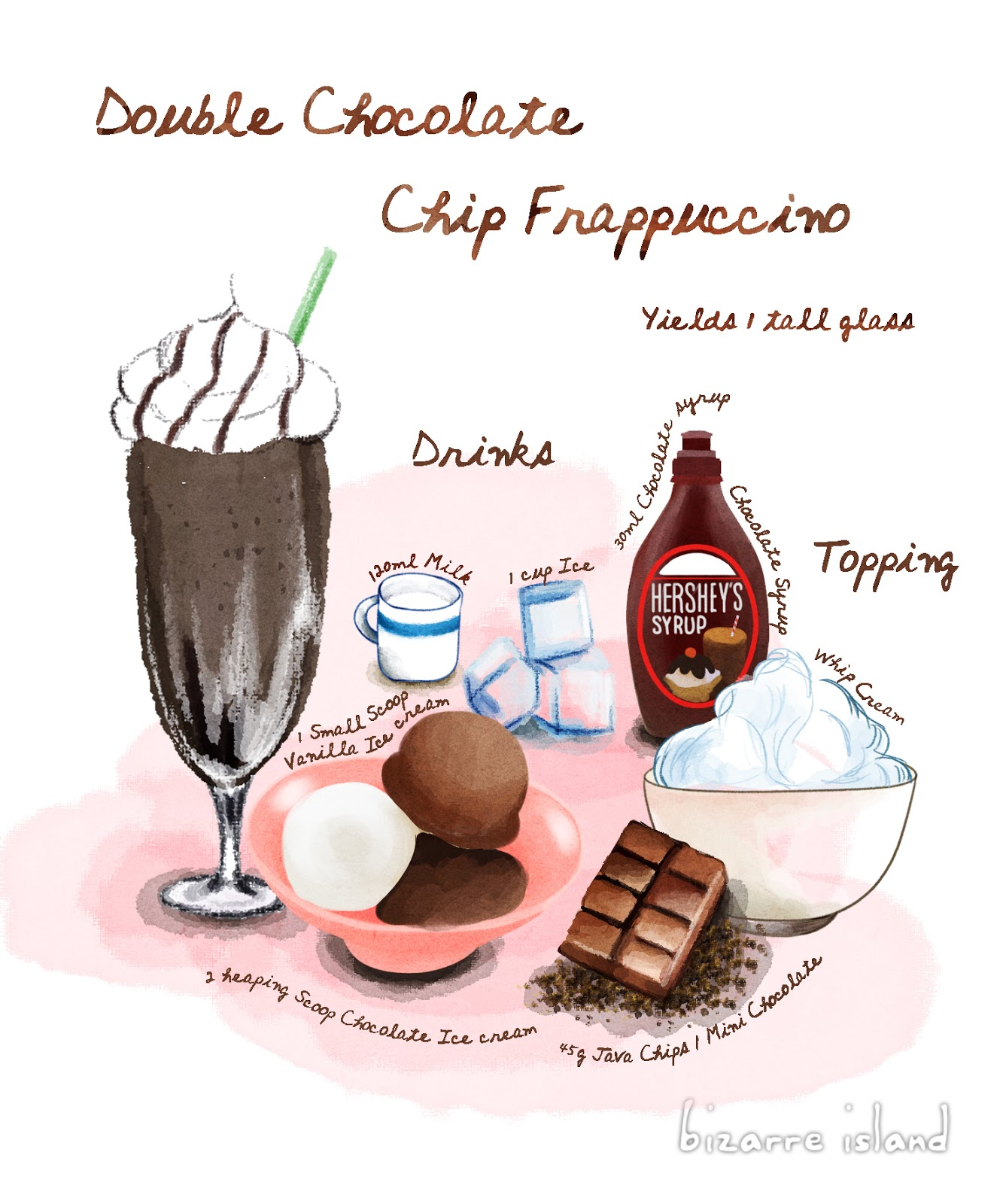 bizarre island ~: Starbucks Copycat Recipe: Double Chocolate Chip ...