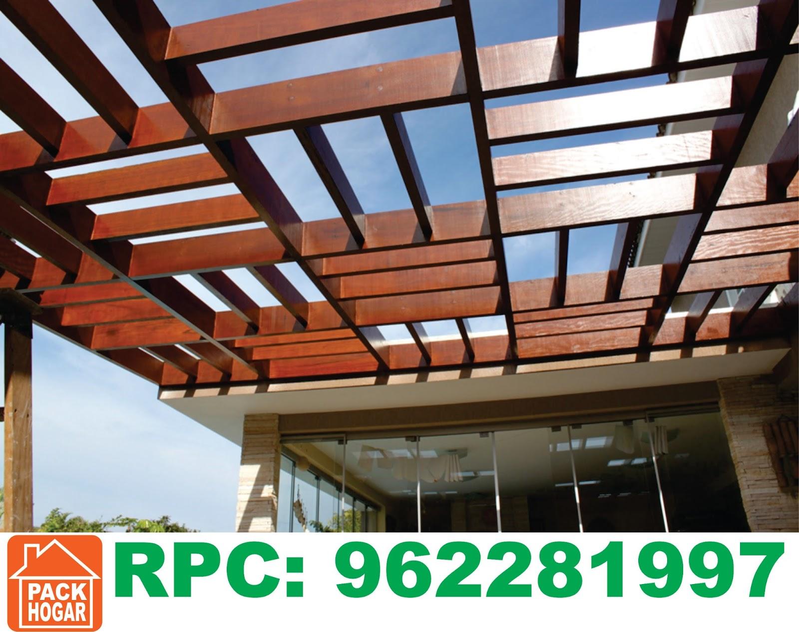 Pergolas sol y sombra techos de madera lima - Techo desmontable madera ...