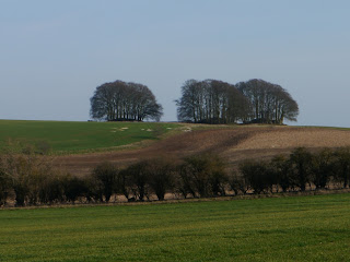 Bronze Age Round Barrows at Overton Hill,  the western end of the Ridgeway National Trail