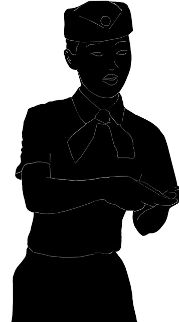 silhouette of a chinese ticket checker