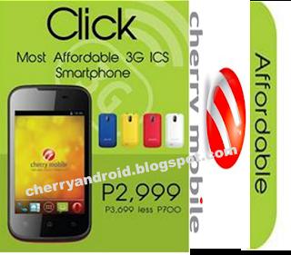 Cherry Mobile Click Specs