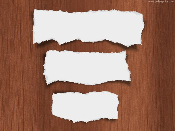 Torn Paper Pieces Template PSD