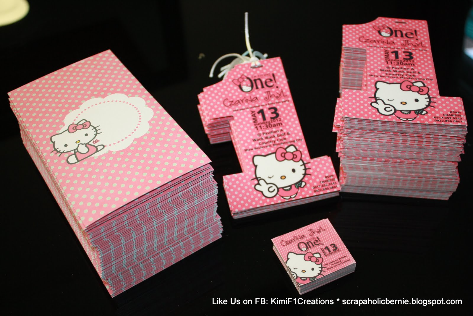 F1 digital scrapaholic hello kitty project part 2 finally200pcs of hello kitty no1 invites with envelope done solutioingenieria Images