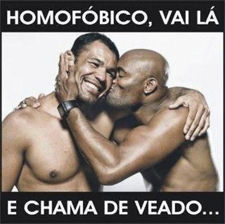 Anderson Silva Minotauro: Campanha contra homofobia