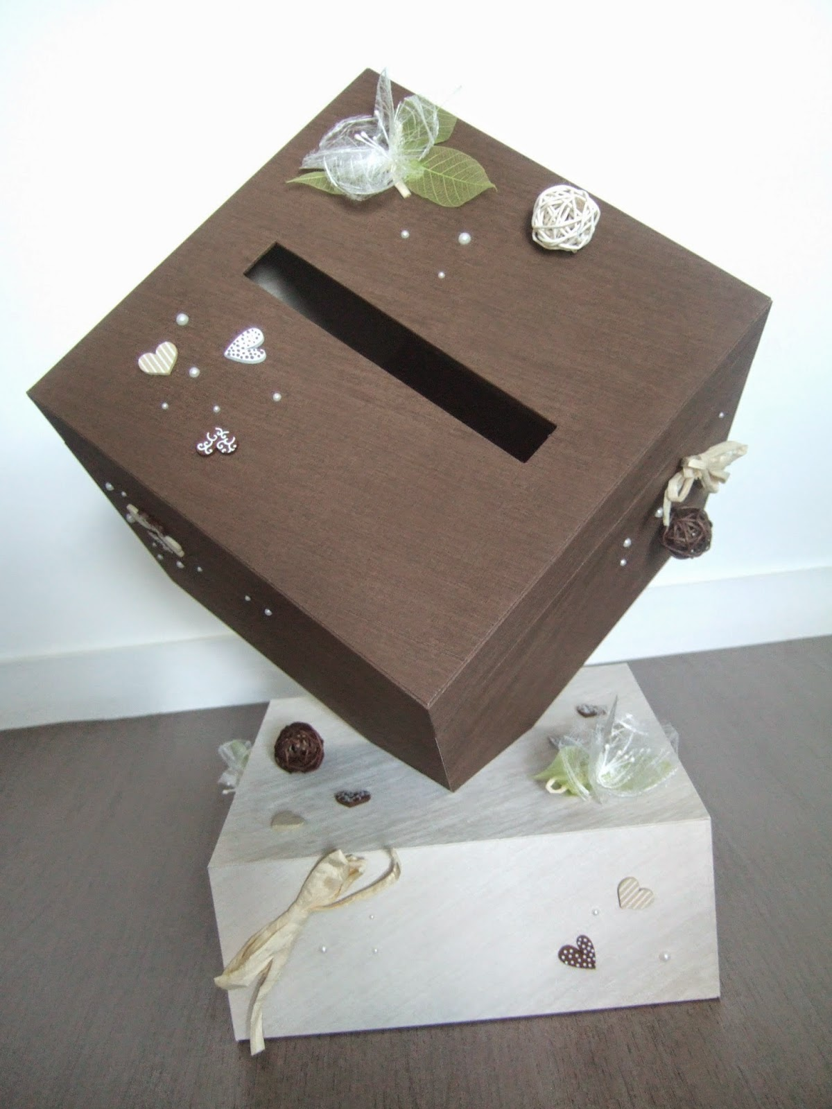 Tuto urne mariage carton - Urne de mariage originale ...