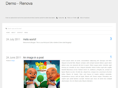 Renova Blogger Theme
