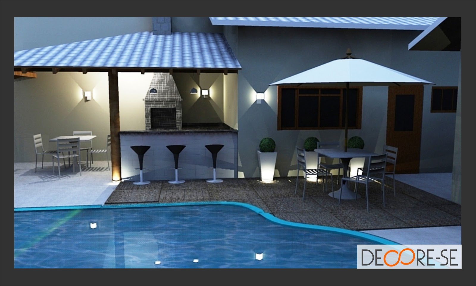 Reforma de Interiores e Projeto de Iluminação Área de Lazer #2D639E 1600 963