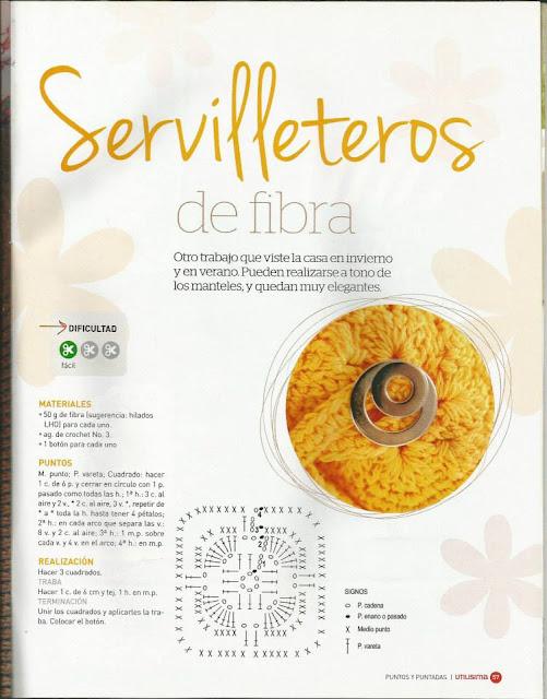 #618 Servilletero a Crochet o Ganchillo
