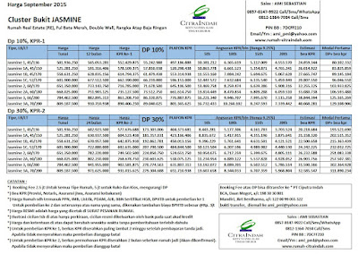 harga-cluster-jasmine-citra-indah-september-2015