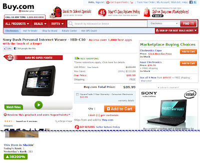 Click to view this landing page for a July 27, 2011 Buy.com email full-sized