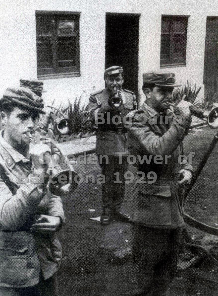 Honores de trompeta. Estación de Olvan 1962