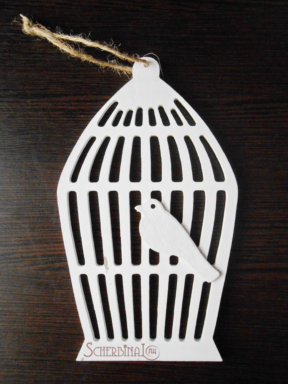 подвеска клетка с птичкой