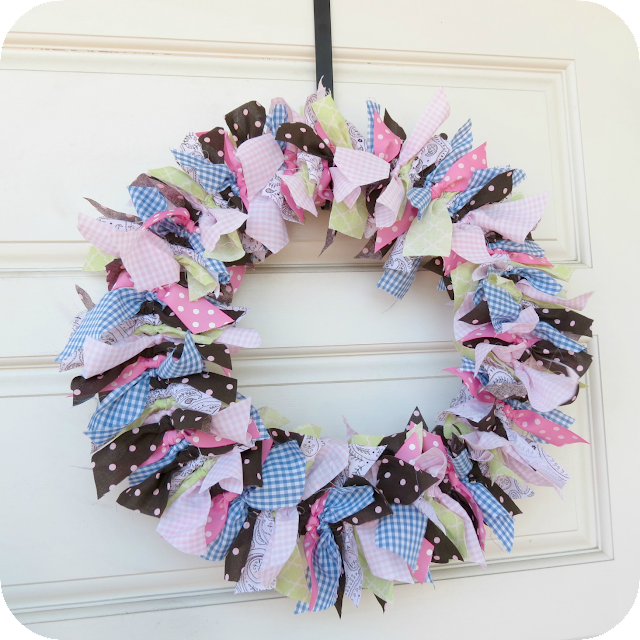 Baby Girl Cloth Rag Wreath