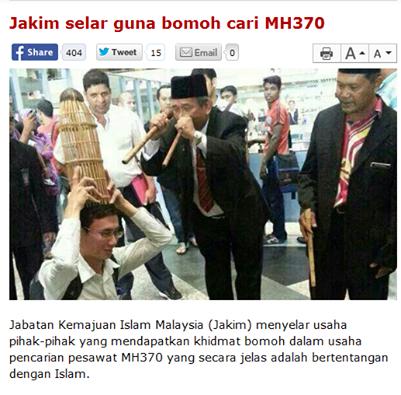 guna bomoh cari pesawat mh370