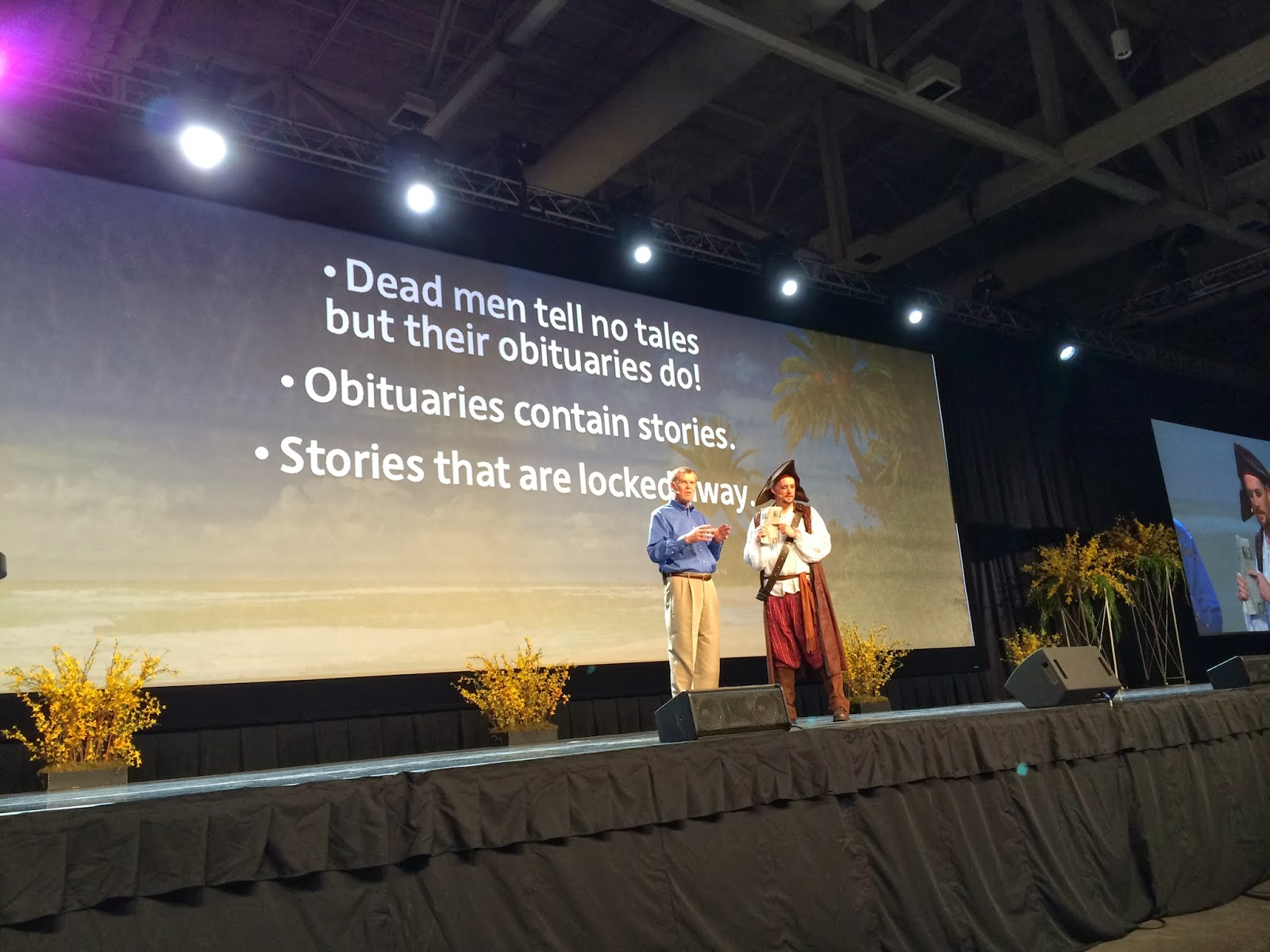 Dennis Brimhall and Captain Jack Open RootsTech 2014 - Thursday Keynote Session