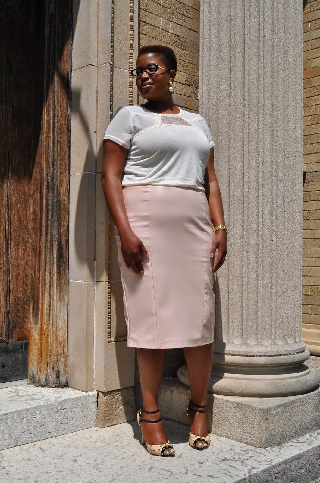 Pink Patent Skirt